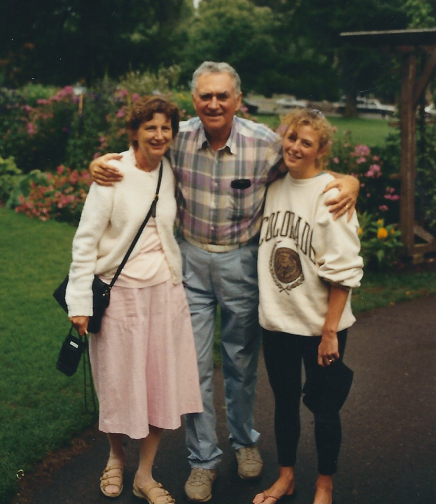 Mom and Dad with Karen - 1992