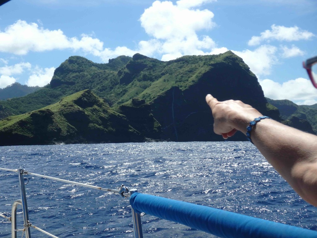 Landfall! Entering Taiohae Bay on Nuku Hiva