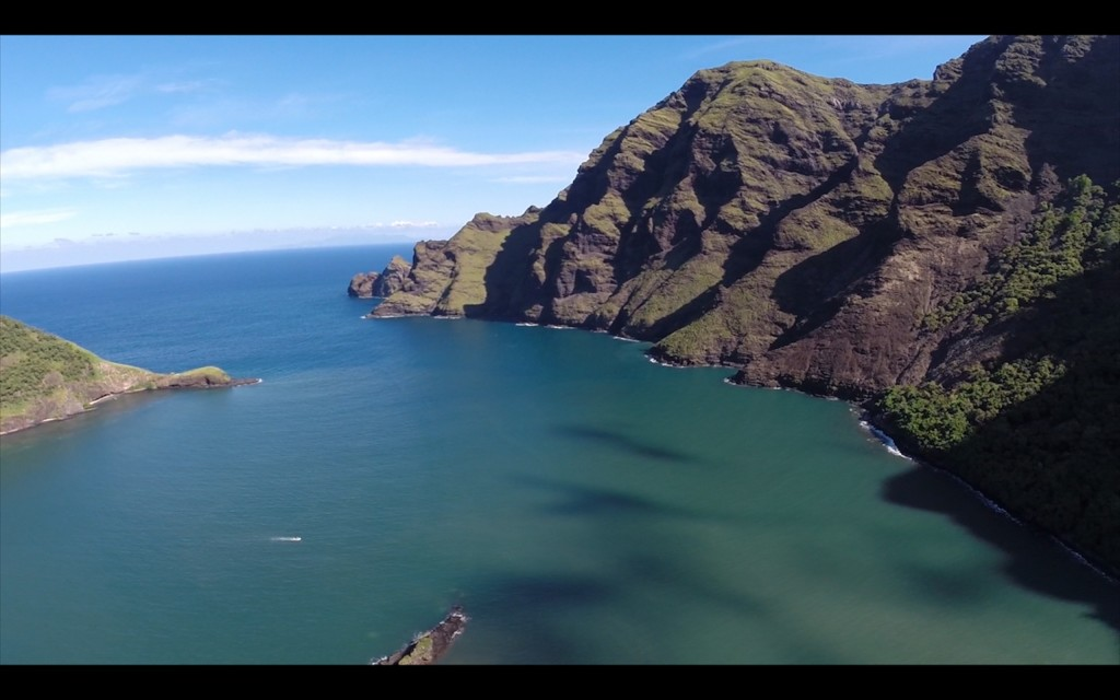 Bird's Eye View - Drone shot  of Daniel's Bay courtesy s/v Harlow Hut