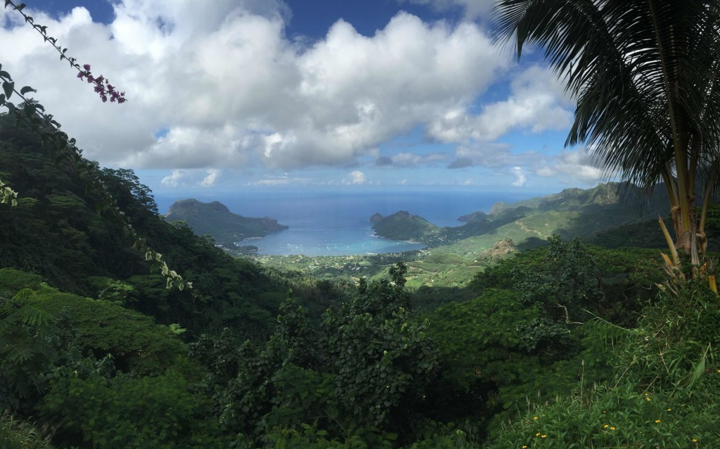Taiohae Bay, Nuku Hiva - A view from on top of the world
