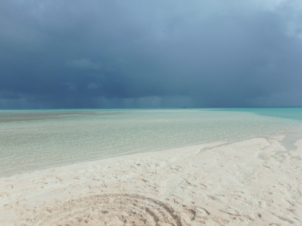 Fakarava Rain Squalls - Temporarily darken the skies