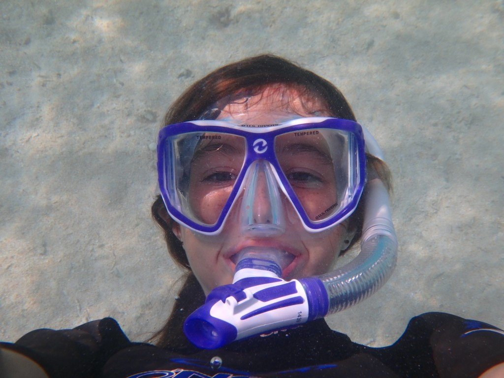 Submerged Selfie - Sarah with amazing water clarity