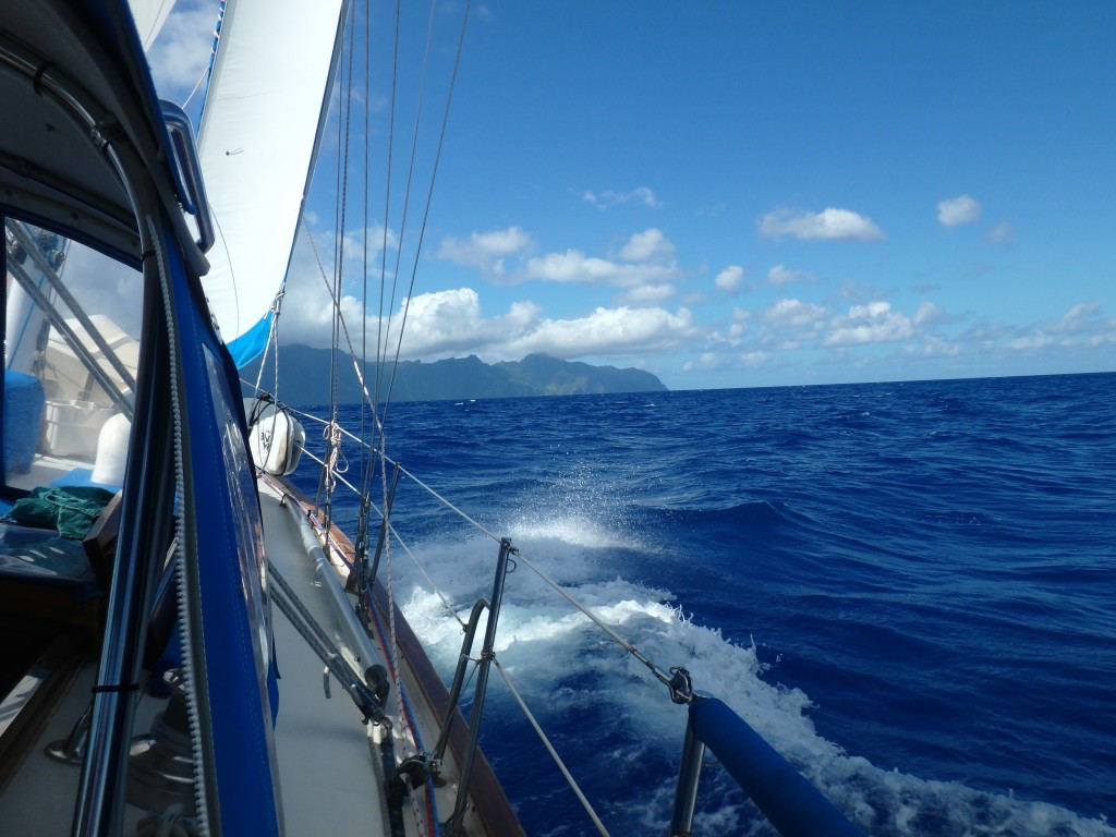 Trade Winds - We had great sailing leaving the Marquesas