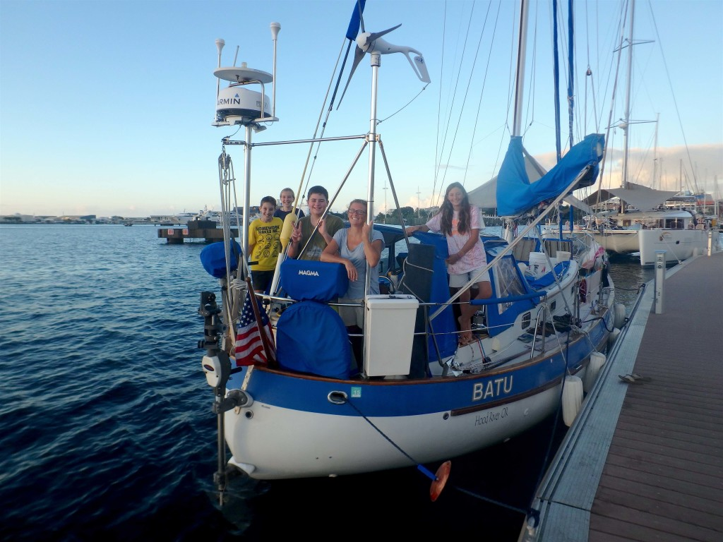 Batu Crew at the Dock - With Ben & Gabby of s/v Cool Runnings