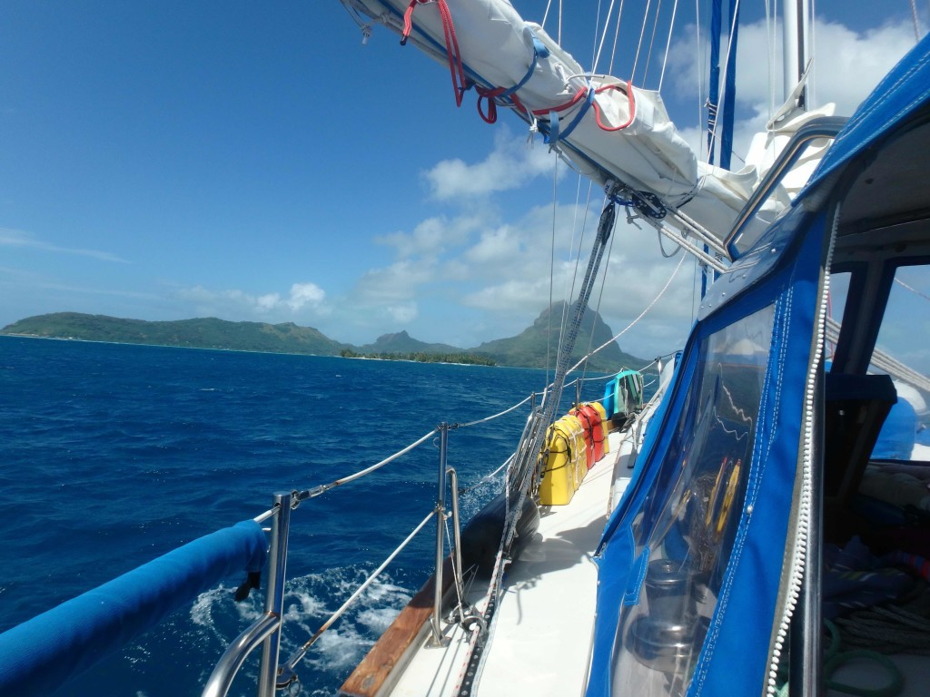 Approach to Bora Bora - The Turquoise lagoon beckons