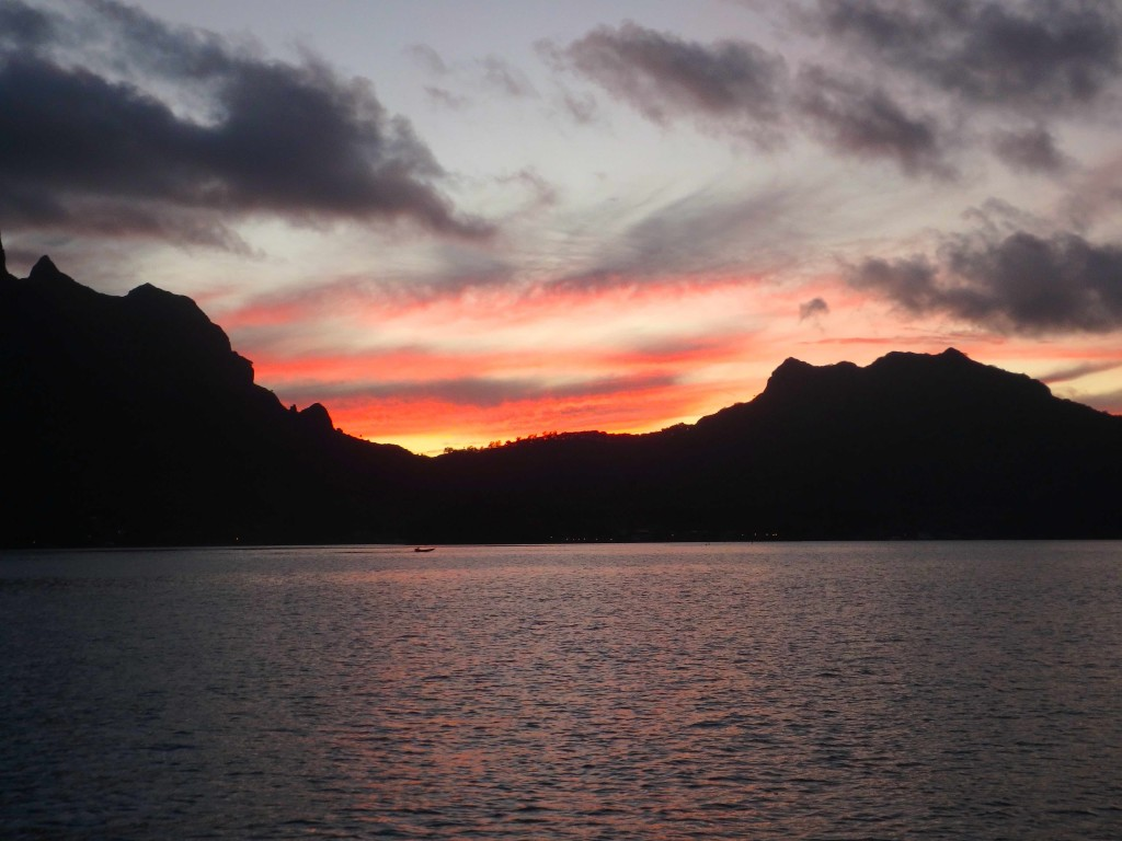 Bora Bora Sunset - One of our last before departing Polynesia