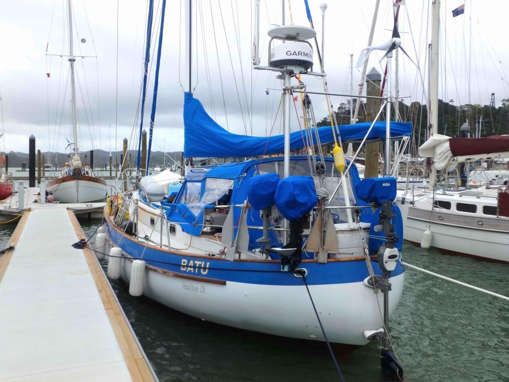 Batu in Opua - Gathering strength for more adventurous cruising while in New Zealand