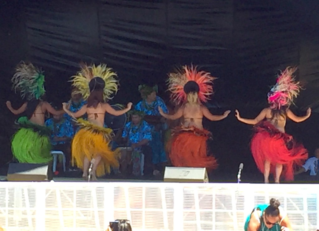 Polynesian Dancers - Members of Auckland-based Cook Island Dance team perform at Waiting