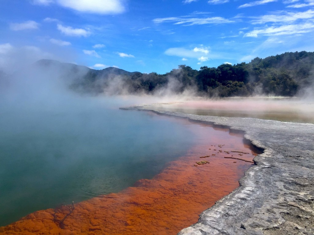 Champagne Pool Pallet - Striking colors make this pool at Wai-o-tapu an artist's dream