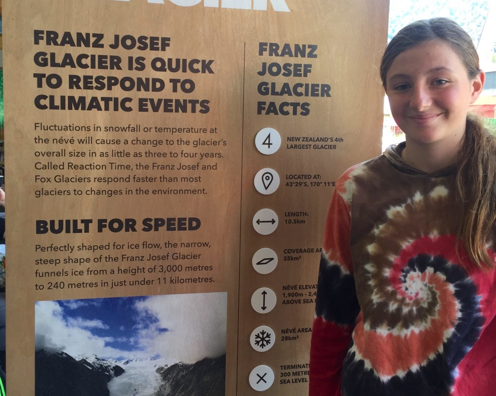 Highly Instructive - Sarah at the Franz Joseph Visitor Center
