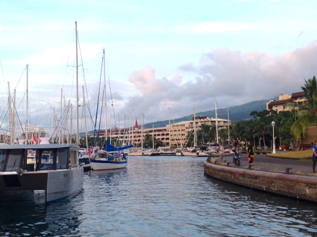 Downtown Tahiti - We've grown quite used to, and fond of this view