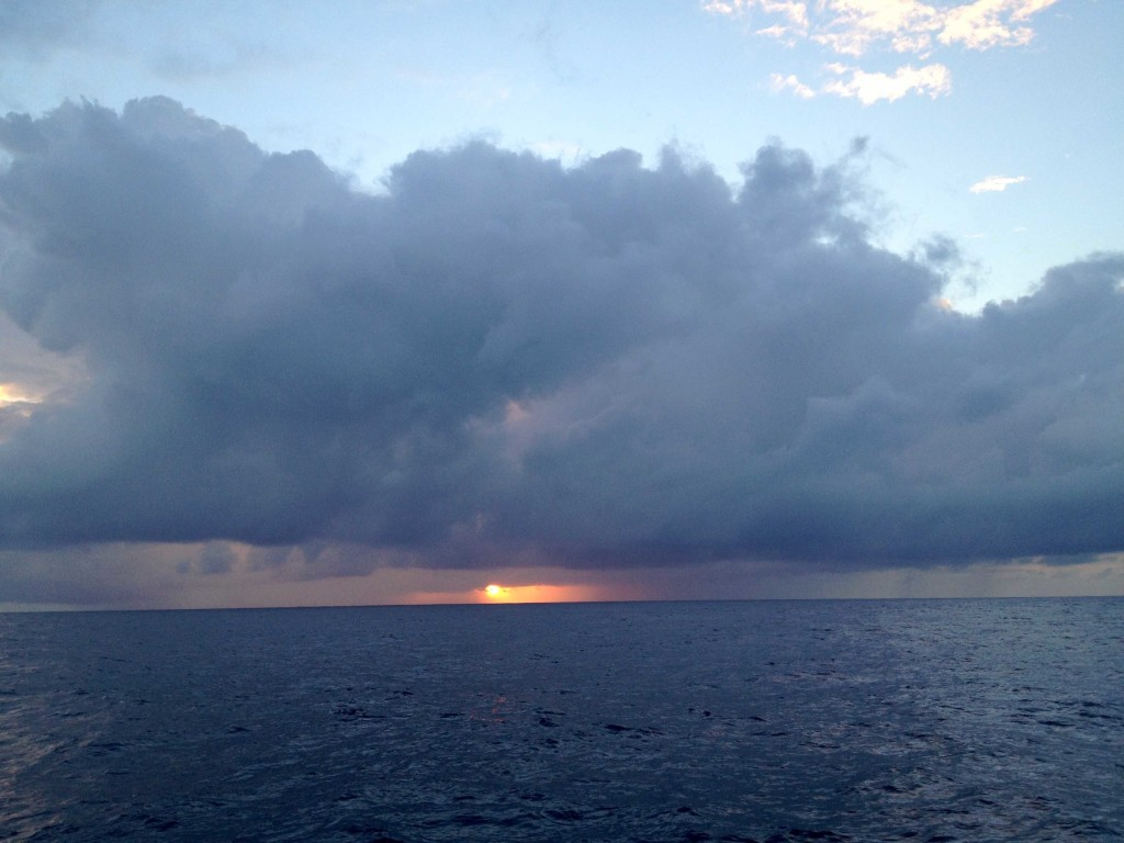 Dawn Series 7 - A spooky, semi-wet dawn as we move through squalls in the ITCZ