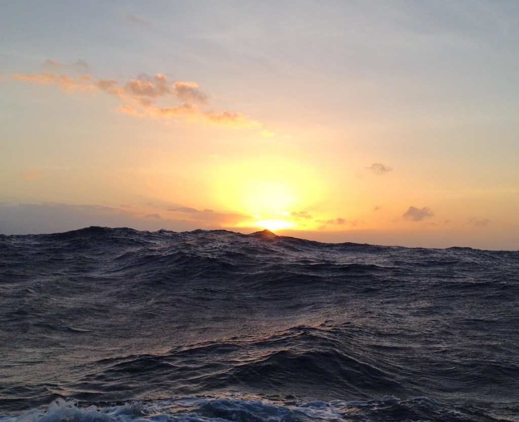 Dawn Series 9 - Sizable swell rolling as we clear the ITCZ