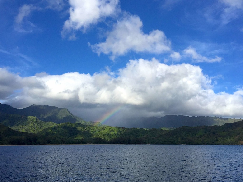 Hanalei Baybow - Classic view from Hanalei Bay anchorage