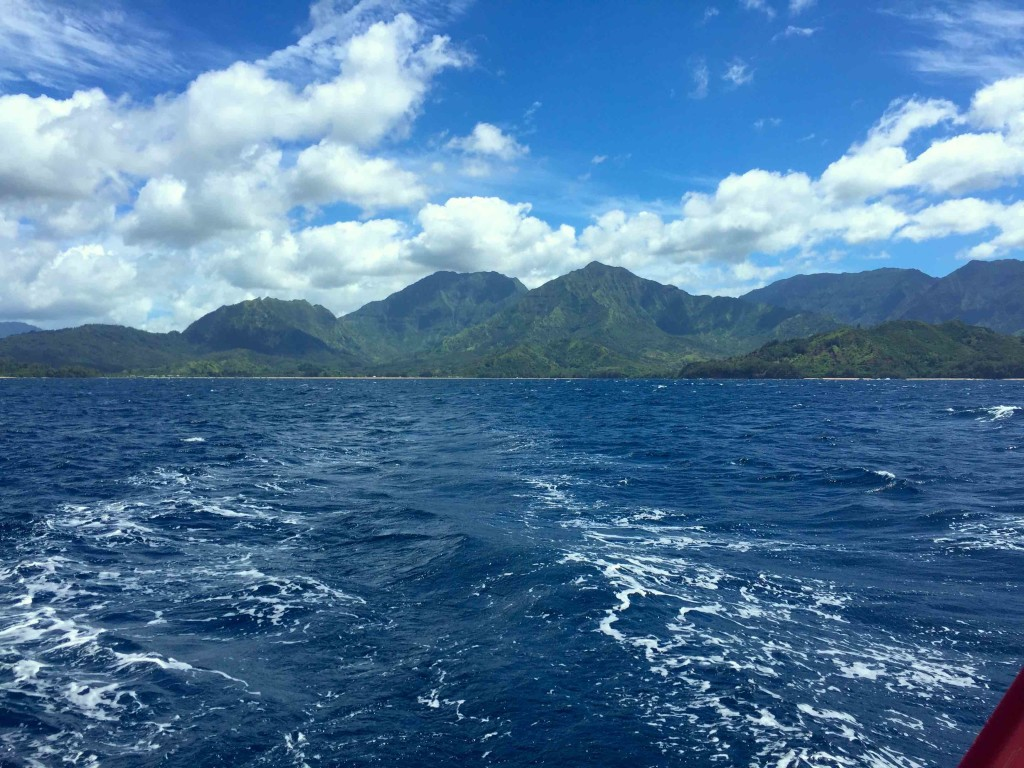 Departing Kauai - A look over the stern as we head for the mainland.